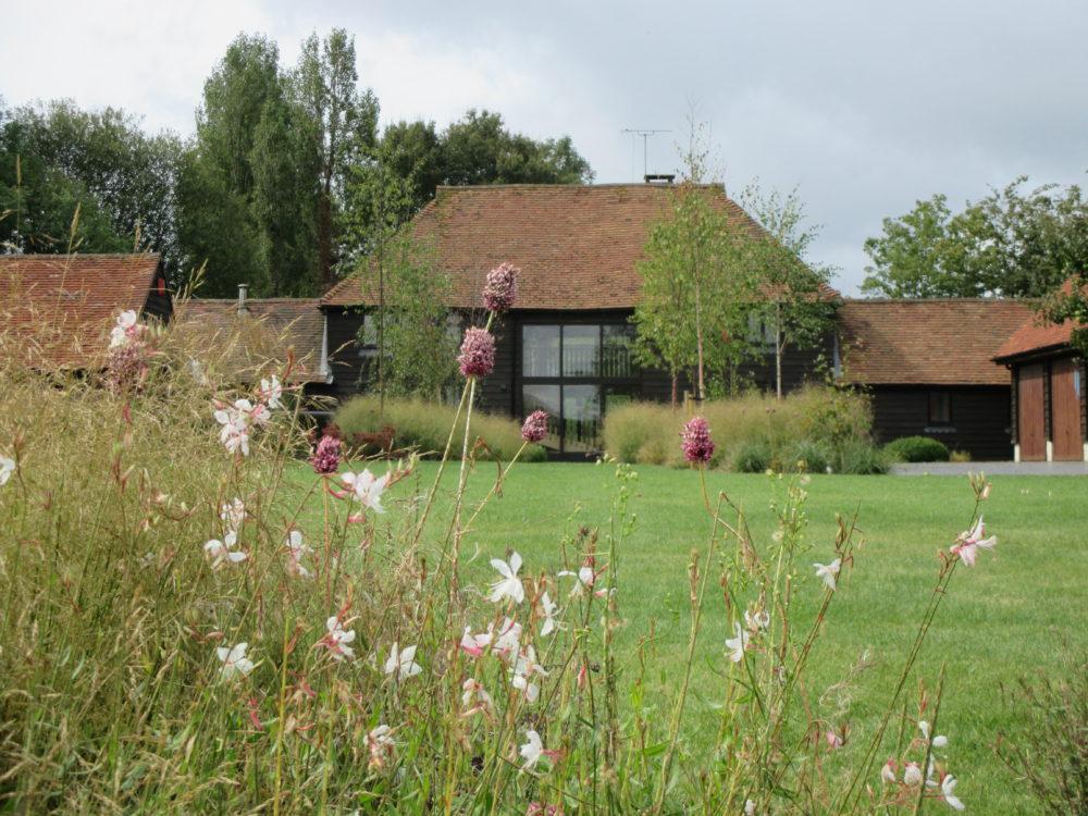 Modern country garden billingshurst west sussex for Garden house design west sussex